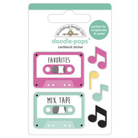Doodlebug Design - Love Notes Collection - Doodle-Pops - 3 Dimensional Cardstock Stickers - Our Song