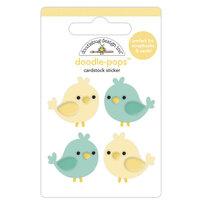 Doodlebug Design - Love Notes Collection - Doodle-Pops - 3 Dimensional Cardstock Stickers - Tweethearts