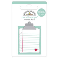 Doodlebug Design - Love Notes Collection - Doodle-Pops - 3 Dimensional Cardstock Stickers - Love Notes
