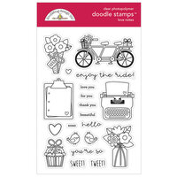 Doodlebug Design - Love Notes Collection - Doodle Stamps - Clear Photopolymer Stamps