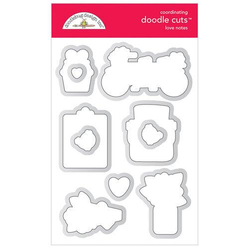 Doodlebug Design - Love Notes Collection - Doodle Cuts - Dies