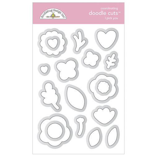 Doodlebug Design - Love Notes Collection - Doodle Cuts - Dies - I Pick You