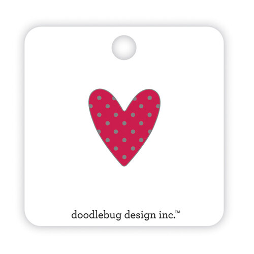 Doodlebug Design - Love Notes Collection - Collectible Pins - Sweetheart