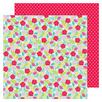 Doodlebug Design - Love Notes Collection - 12 x 12 Double Sided Paper - Rose Garden