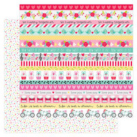 Doodlebug Design - Love Notes Collection - 12 x 12 Double Sided Paper - Sweet Sprinkles