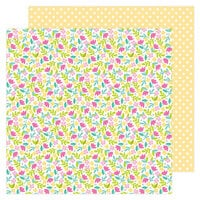 Doodlebug Design - Love Notes Collection - 12 x 12 Double Sided Paper - Love You Bunches