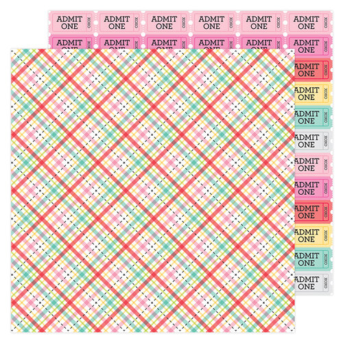 Doodlebug Design - Love Notes Collection - 12 x 12 Double Sided Paper - Forever Plaid
