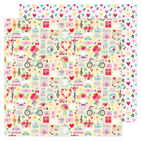Doodlebug Design - Love Notes Collection - 12 x 12 Double Sided Paper - Love Notes