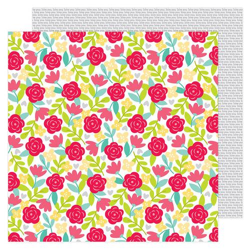 Doodlebug Design - Love Notes Collection - 12 x 12 Double Sided Paper - Secret Admirer
