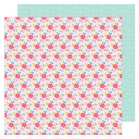 Doodlebug Design - Love Notes Collection - 12 x 12 Double Sided Paper - Rose Trellis