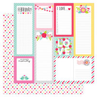 Doodlebug Design - Love Notes Collection - 12 x 12 Double Sided Paper - Conversation Hearts