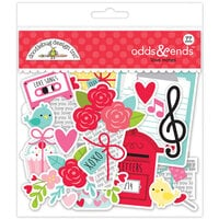 Doodlebug Design - Love Notes Collection - Odds and Ends - Die Cut Cardstock Pieces - Love Notes