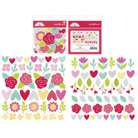 Doodlebug Design - Love Notes Collection - Odds and Ends - Die Cut Cardstock Pieces - I Pick You