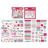 Doodlebug Design - Love Notes Collection - Chit Chat - Die Cut Cardstock Pieces