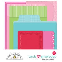 Doodlebug Design - Love Notes Collection - Love Cards and Envelopes