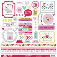 Doodlebug Design - Love Notes Collection - Cardstock Stickers - This and That