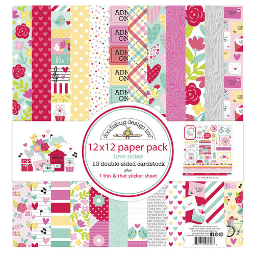 Doodlebug Design - Love Notes Collection - 12 x 12 Collection Pack