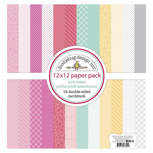 Doodlebug Design - Love Notes Collection - 12 x 12 Petite Print Assortment Pack