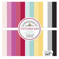 Doodlebug Design - Love Notes Collection - 12 x 12 Textured Cardstock Assortment Pack