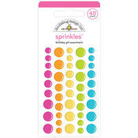 Doodlebug Design - Hey Cupcake Collection - Self Adhesive Assortment Sprinkles - Birthday Girl