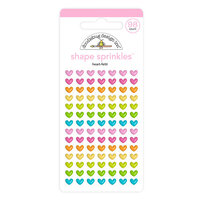 Doodlebug Design - Hey Cupcake Collection - Self Adhesive Shape Sprinkles - Heart-Fetti