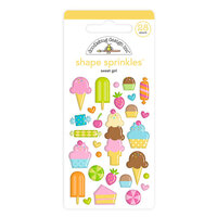 Doodlebug Design - Hey Cupcake Collection - Self Adhesive Shape Sprinkles - Sweet Girl