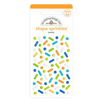 Doodlebug Design - Party Time Collection - Self Adhesive Shape Sprinkles - Jimmies