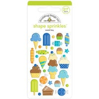 Doodlebug Design - Party Time Collection - Self Adhesive Shape Sprinkles - Sweet Boy