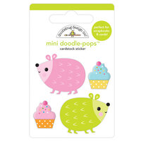 Doodlebug Design - Hey Cupcake Collection - Mini Doodle-Pops - 3 Dimensional Cardstock Stickers - Hedge Hugs