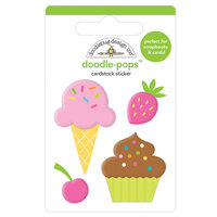 Doodlebug Design - Hey Cupcake Collection - Doodle-Pops - 3 Dimensional Cardstock Stickers - Sweet Treats
