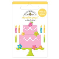 Doodlebug Design - Hey Cupcake Collection - Doodle-Pops - 3 Dimensional Cardstock Stickers - Make A Wish