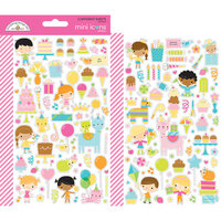 Doodlebug Design - Hey Cupcake Collection - Cardstock Stickers - Mini Icons