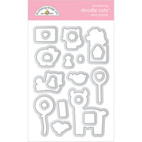 Doodlebug Design - Hey Cupcake Collection - Doodle Cuts Dies - Party Animals - Girl