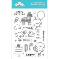 Doodlebug Design - Party Time Collection - Clear Photopolymer Stamps - Birthday Boy