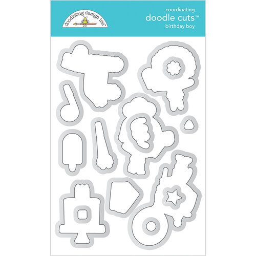 Doodlebug Design - Party Time Collection - Doodle Cuts Dies - Birthday Boy