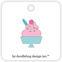 Doodlebug Design - Hey Cupcake Collection - Collectible Pins - Sweet Sundae