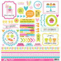Doodlebug Design - Hey Cupcake Collection - 12 x 12 Cardstock Stickers - This and That