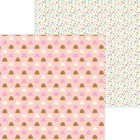 Doodlebug Design - Hey Cupcake Collection - 12 x 12 Double Sided Paper - Sugar Cones