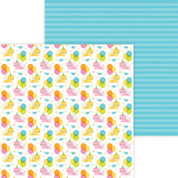 Doodlebug Design - Hey Cupcake Collection - 12 x 12 Double Sided Paper - Party Purrrfect