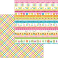 Doodlebug Design - Hey Cupcake Collection - 12 x 12 Double Sided Paper - Party Girl Plaid