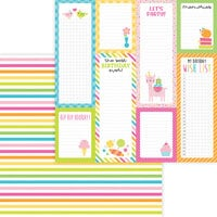 Doodlebug Design - Hey Cupcake Collection - 12 x 12 Double Sided Paper - Sundae Stripe
