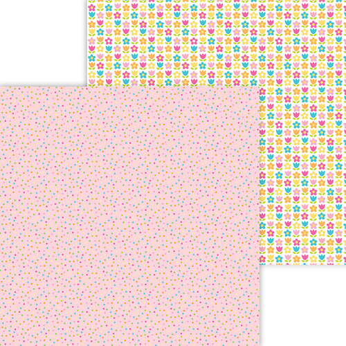 Doodlebug Design - Hey Cupcake Collection - 12 x 12 Double Sided Paper - Cupcake Sprinkles