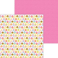 Doodlebug Design - Hey Cupcake Collection - 12 x 12 Double Sided Paper - Hey Cupcake