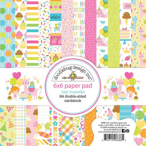 Doodlebug Design - Hey Cupcake Collection - 6 x 6 Paper Pad