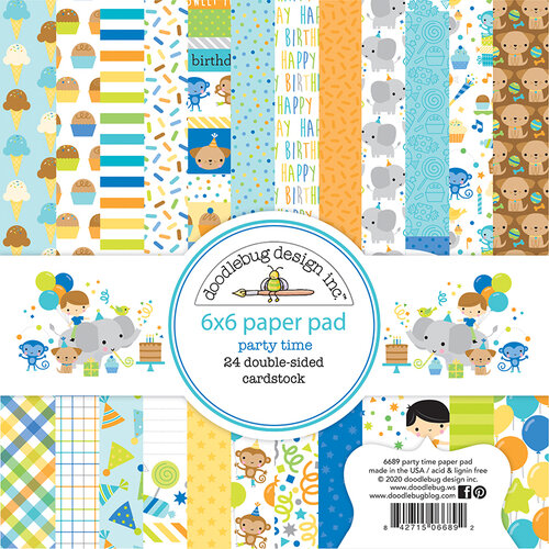 Doodlebug Design - Party Time Collection - 6 x 6 Paper Pad