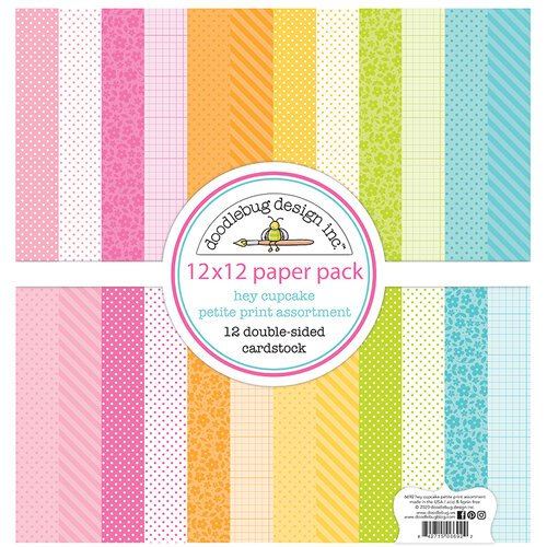 Doodlebug Design - Hey Cupcake Collection - 12 x 12 Petite Print Assortment Pack