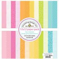 Doodlebug Design - Hey Cupcake Collection - 12 x 12 Petite Print Assortment Pack