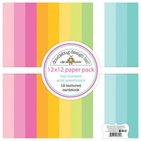 Doodlebug Design - Hey Cupcake Collection - 12 x 12 Textured Cardstock Assortment Pack