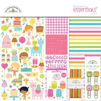 Doodlebug Design - Hey Cupcake Collection - 12 x 12 Essentials Kit