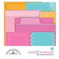 Doodlebug Design - Hey Cupcake Collection - Cards and Envelopes